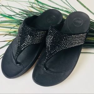 Fitflop.  Black flops with rhinestone jewels